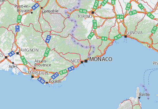 Carte-Plan Alpes-Maritimes