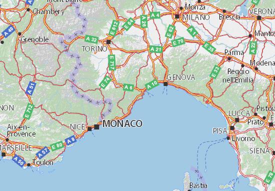 Mapa Savona   plano Savona  ViaMichelin