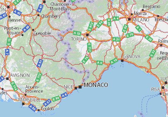 Mapas-Planos Cuneo