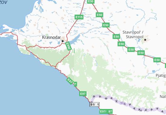 Adygeja Respublika Map