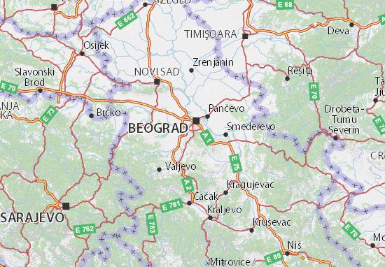grad beograd mapa Mapa Grad Beograd   plano Grad Beograd  ViaMichelin grad beograd mapa