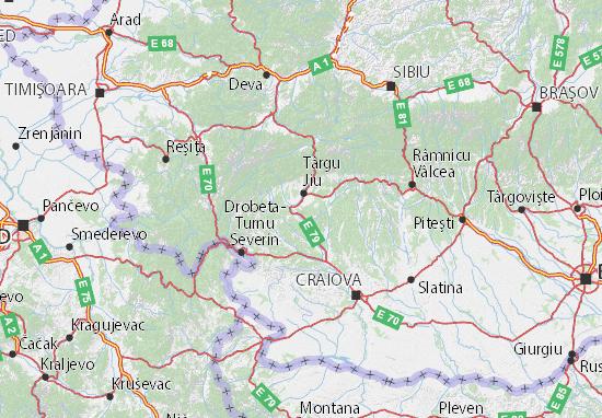 Mapa Plano Gorj