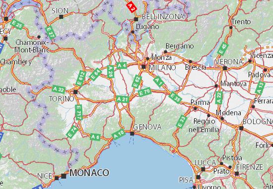 Carte-Plan Pavia