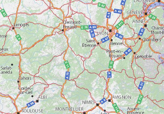 Departement Haute Loire Carte.Carte Detaillee Haute Loire Plan Haute Loire Viamichelin