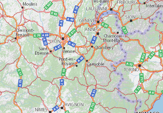 Mapa Plano Isère