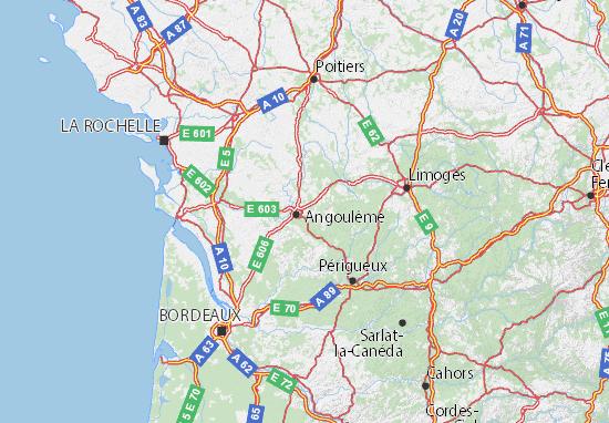 Carte-Plan Charente