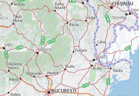 Cartina Stradale Della Romania.Mappa Michelin Vrancea Pinatina Di Vrancea Viamichelin