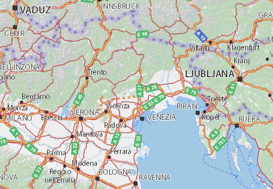 Karte Stadtplan Treviso
