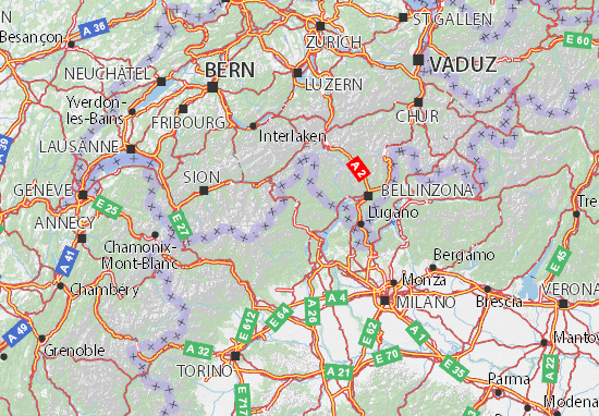 Cartina Militare Piemonte.Mappa Michelin Verbano Cusio Ossola Pinatina Di Verbano Cusio Ossola Viamichelin