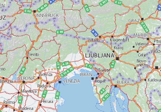Cartina Friuli E Veneto.Mappa Michelin Friuli Venezia Giulia Pinatina Di Friuli Venezia Giulia Viamichelin