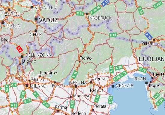 Kaart Plattegrond Trento