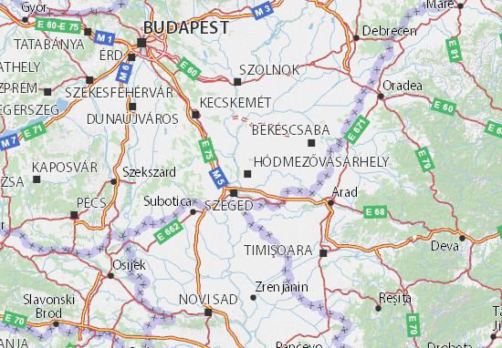 Mapas-Planos Hódmezővásárhely