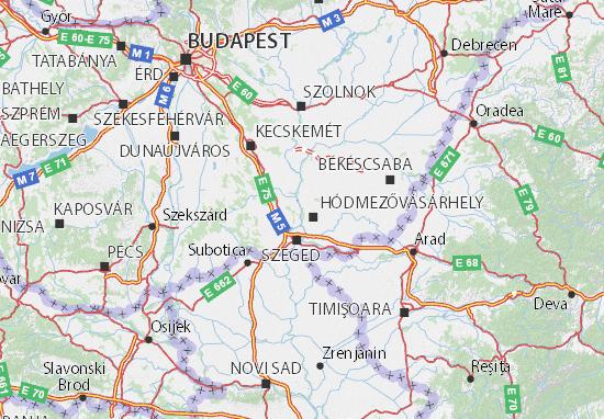 Csongrád Map