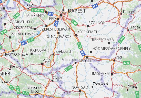 Bács-Kiskun Map