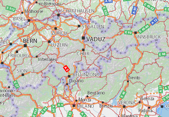 Karte Stadtplan Graubünden