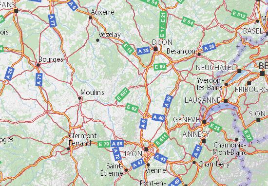 Carte-Plan Saône-et-Loire