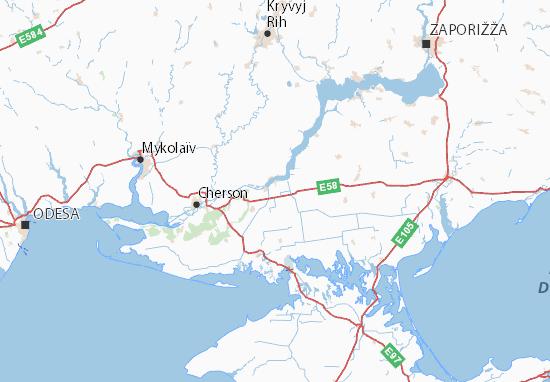 Mapas-Planos Khersons'ka oblast