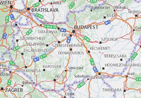 Karte Stadtplan Dunaújváros
