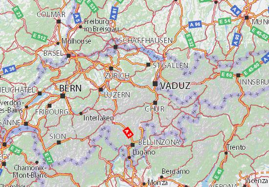 Kaart Plattegrond Glarus