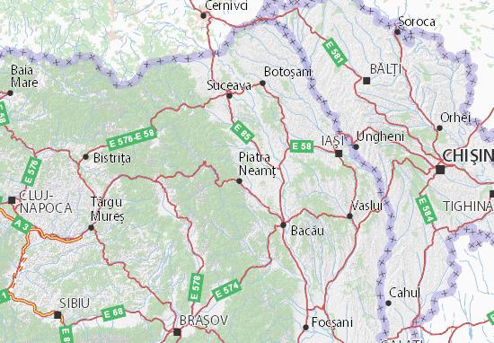 Neamţ Map