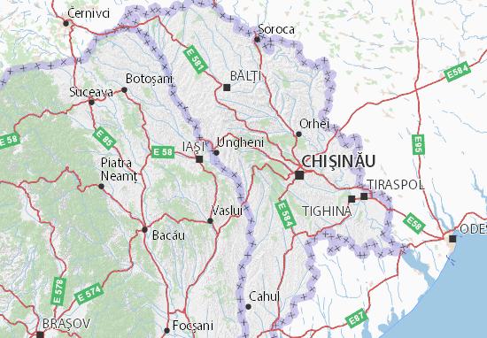 Nisporeni Map