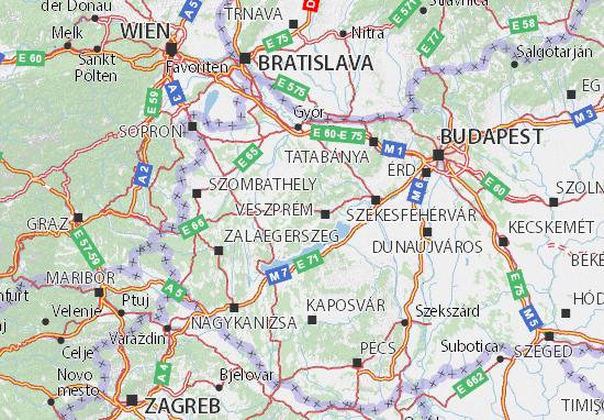 Karte Stadtplan Veszprém