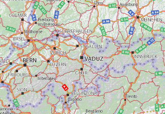 Kaart Plattegrond Liechtenstein