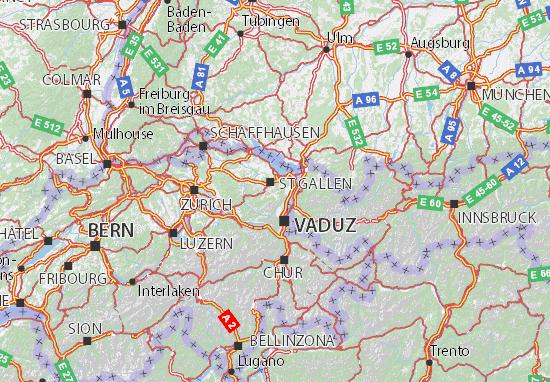 Karte Stadtplan Appenzell Ausserrhoden