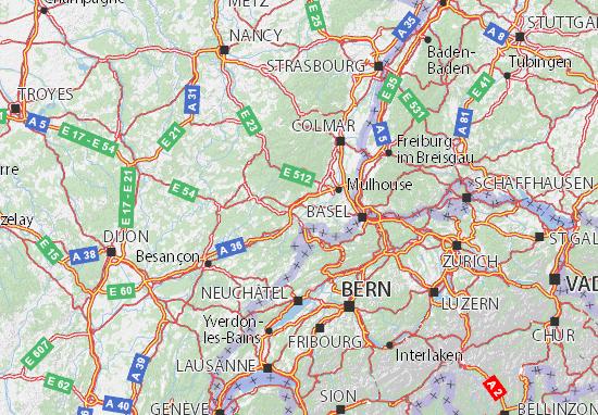 Mapas-Planos Territoire de Belfort