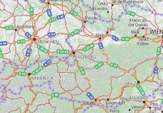 Mapa Plano Österreich