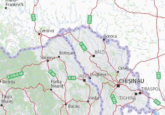 Glodeni Map