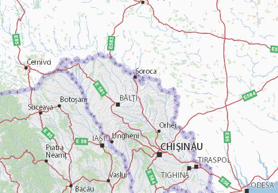 Floreşti Map