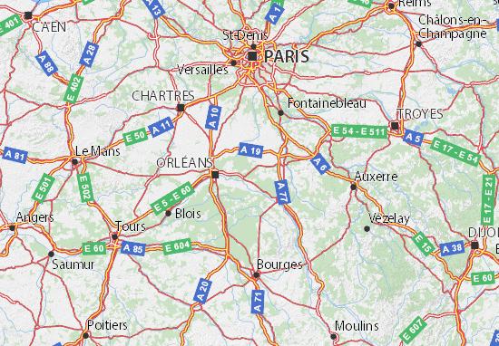 Mapa Plano Loiret