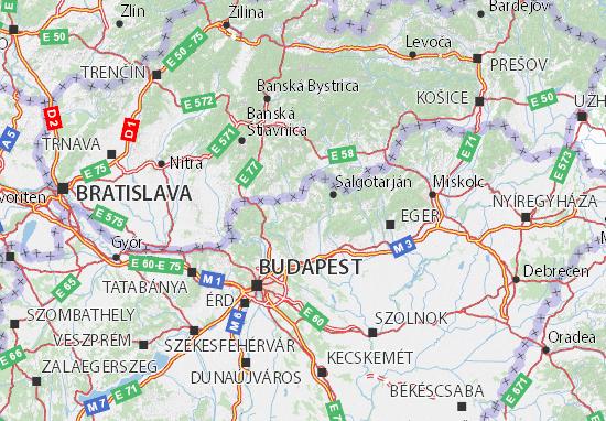 Nógrád Map