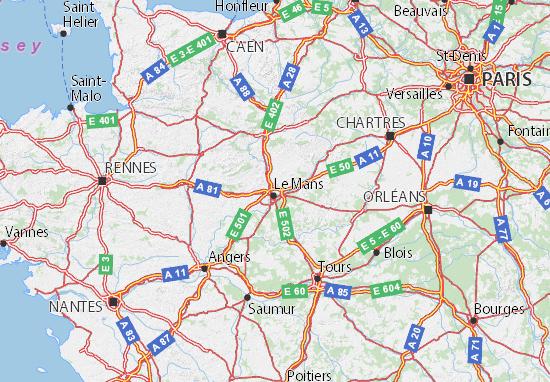 Sarthe Map