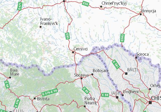 Chernivets'ka oblast Map