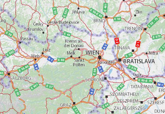 Karte Stadtplan Niederösterreich
