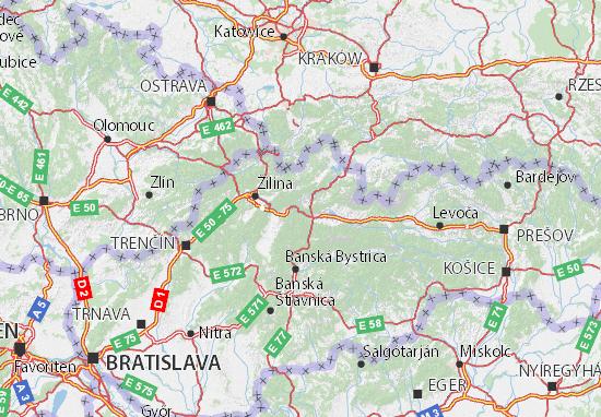 Mapa Plano Žilinský kraj