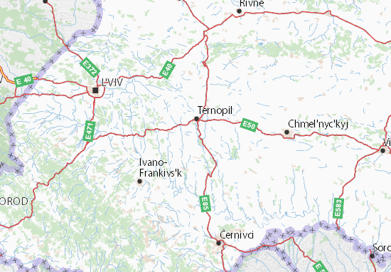 Carte-Plan Ternopil's'ka oblast