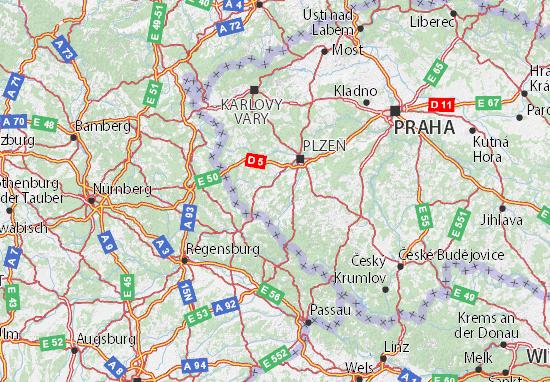 Mapa Plano Plzeňský