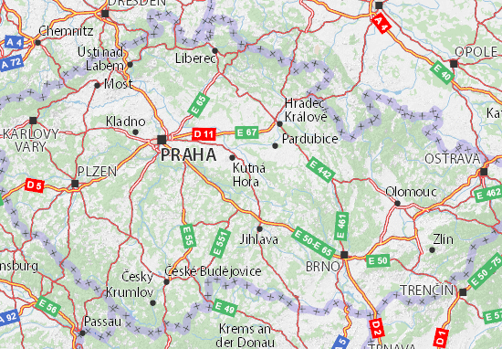 Česko Map
