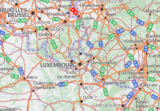 Mappe-Piantine Luxembourg