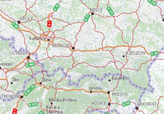 Mapa Małopolskie