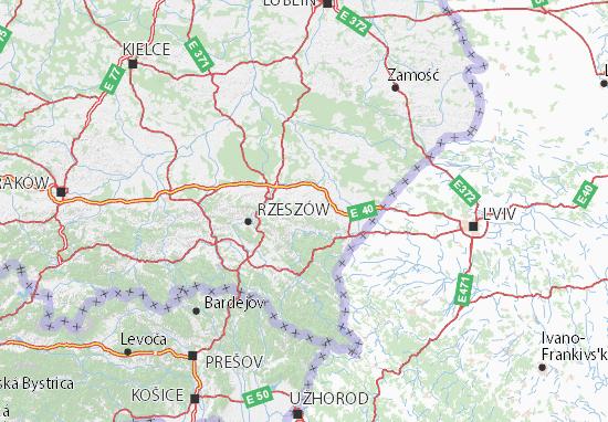 Mapa Podkarpackie