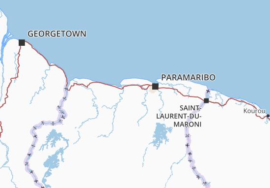 Carte-Plan Saramacca