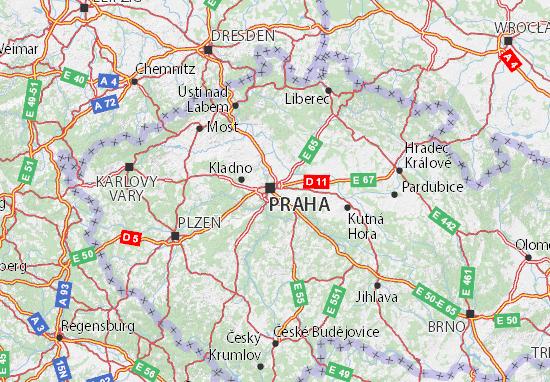 Karte Stadtplan Středočeský