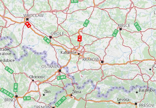 Mapa Śląskie