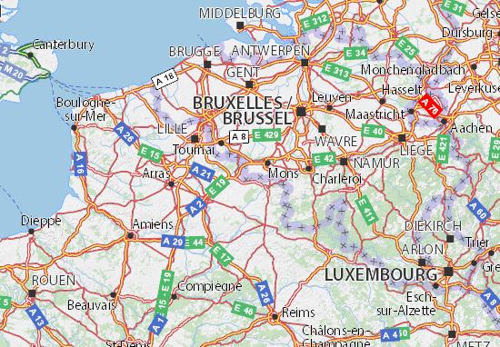 Karte Stadtplan Hainaut