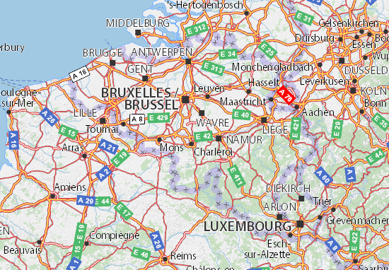 Kaart Plattegrond Belgique