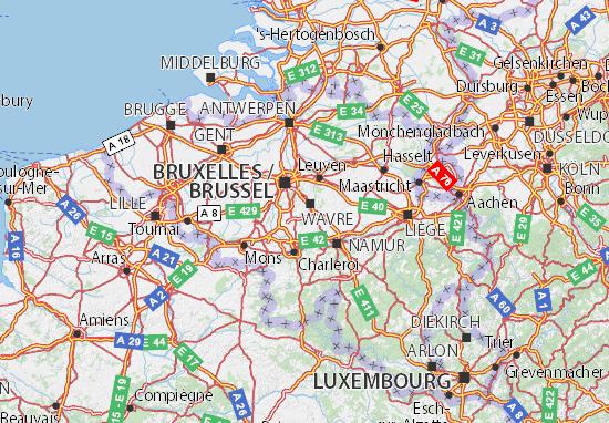 Carte De La Wallonie Belgique.Carte Detaillee Brabant Wallon Plan Brabant Wallon